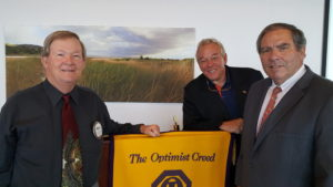 left to right: Mark Ball, President; Sam Lagana, and  Lou Drobnick, Program Chair
